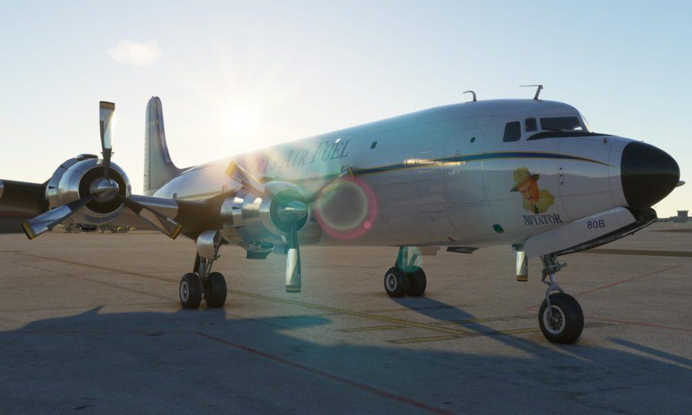 Microsoft Flight Simulator DC-6 by PMDG Gets New Video & Screenshots Showing Landing & Everts Air Livery