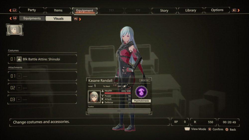 scarlet nexus change clothes
