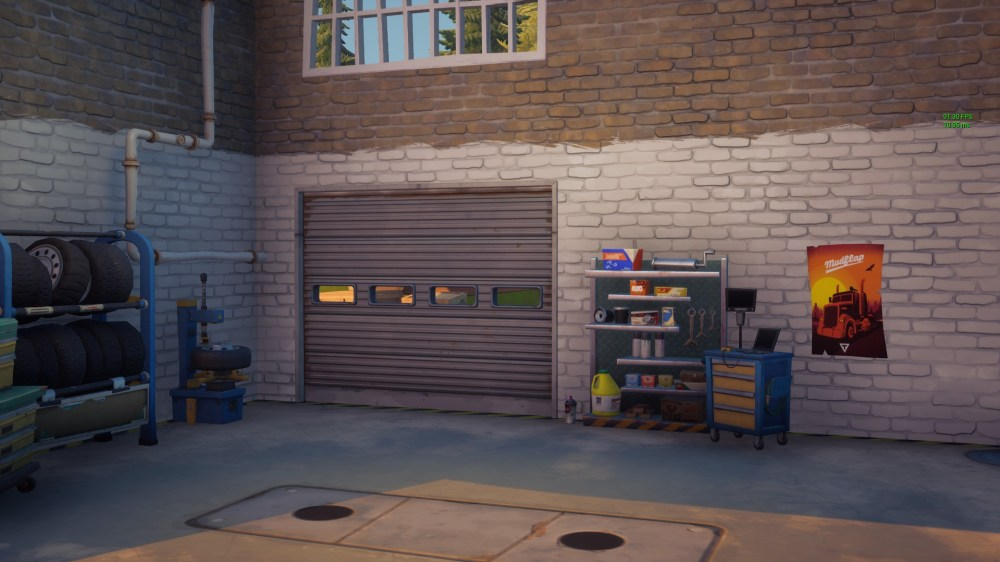 fortnite pleasant park garage spray can location