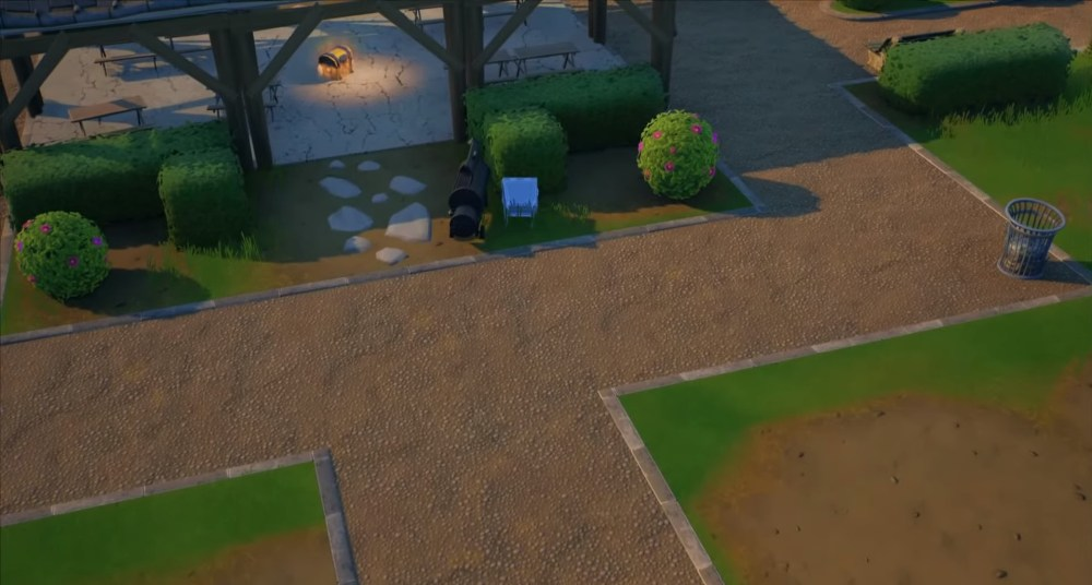 fortnite pleasant park welcome sign locations