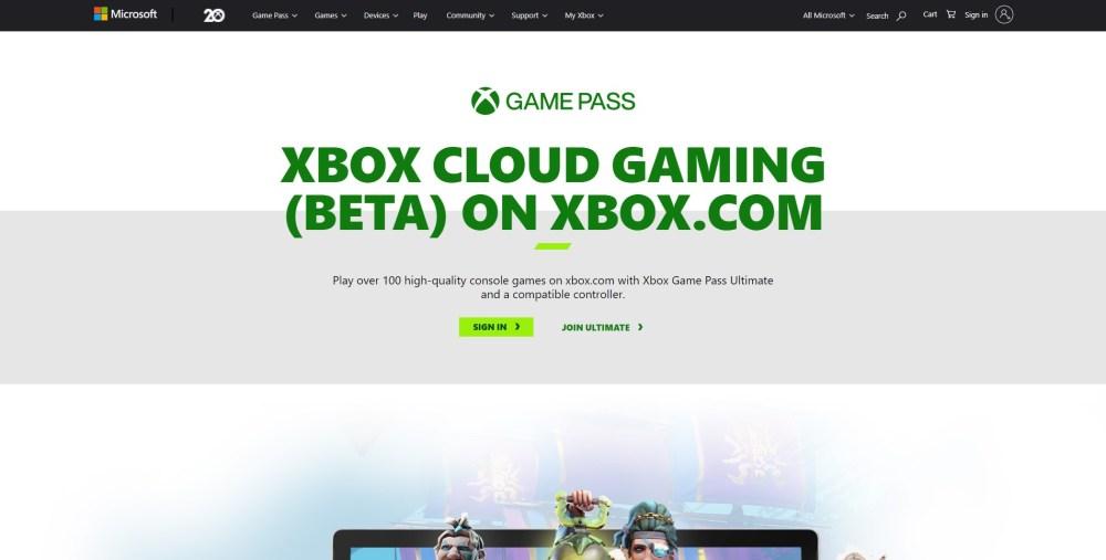 xbox cloud gaming browser ios windows 10