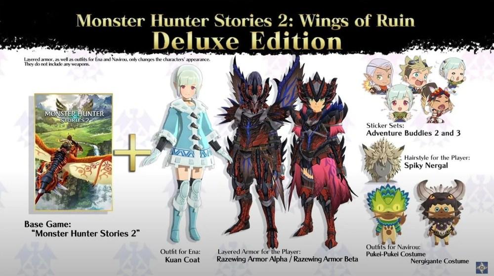 monster hunter stories 2 deluxe edition dlc