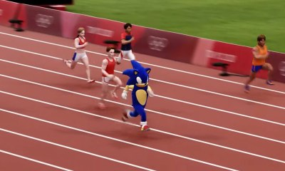 Olympic Games Tokyo 2020 has a hilarious human-sized Sonic the Hedgehog costume