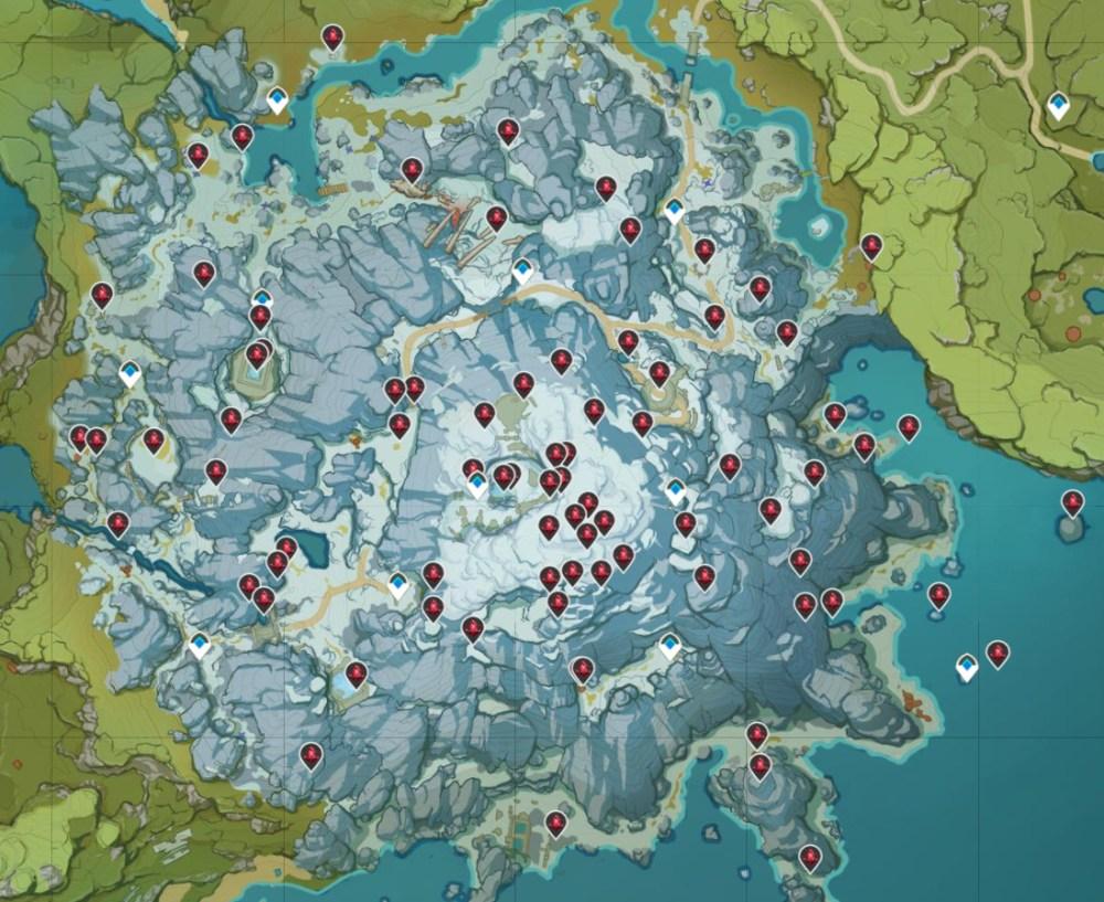 Genshin Impact Crimson Agate Map