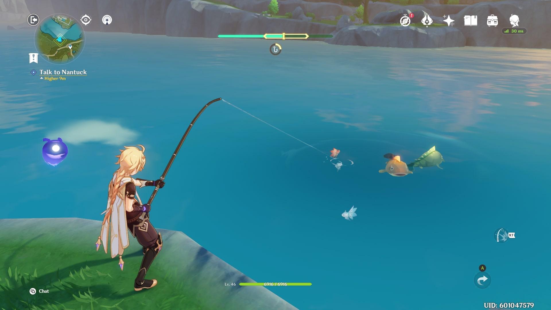 Genshin Impact Fishing Mini Game