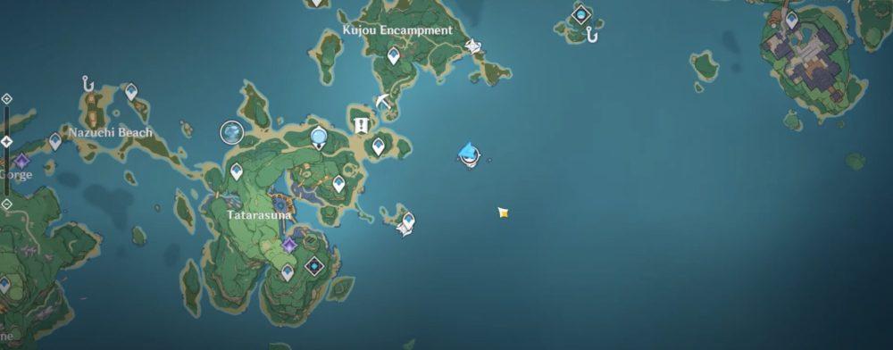 genshin impact raimei angelfish location