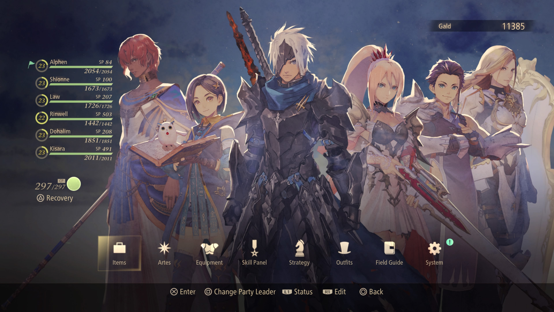 tales of arise switch character menu