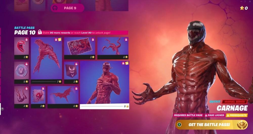 fortnite season 8 tier 100 skin, fortnite carnage skin