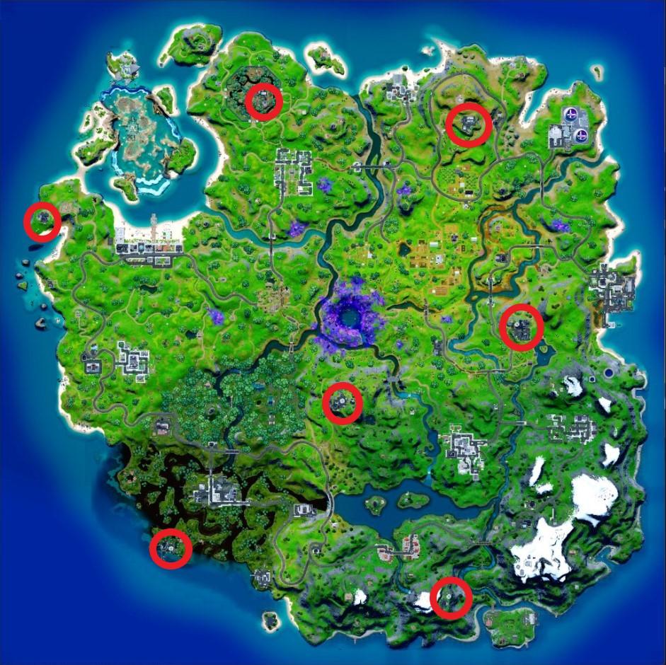 fortnite radar dish locations