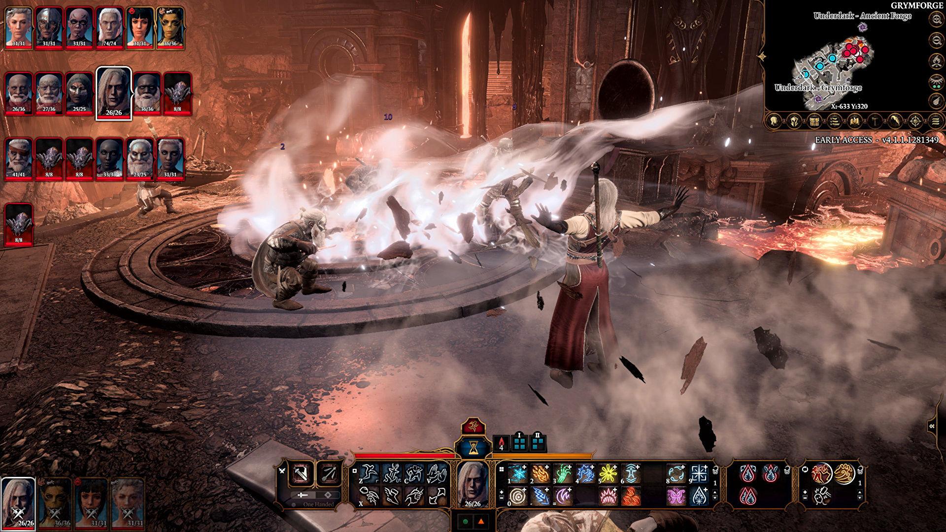 Baldurs Gate 3 Sorcerer Combat
