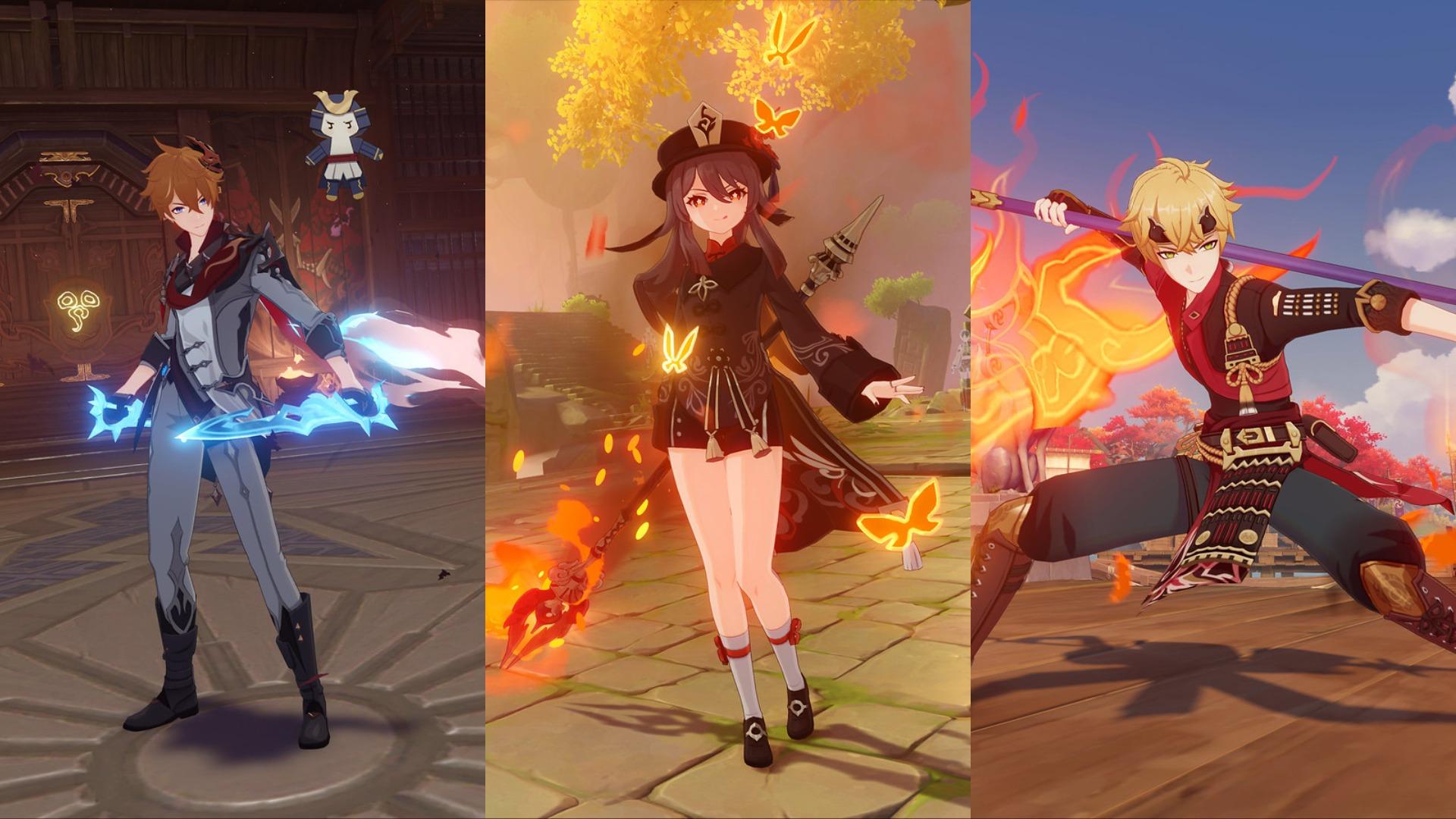 Genshin Impact 2.2 Childe Hu Tao Thoma Banner