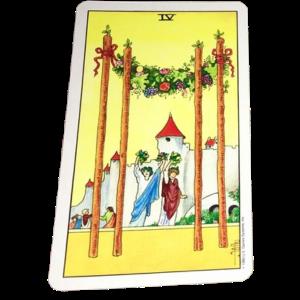 Four of Wands tarot card