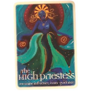 The High Priestess of the Oracle Tarot