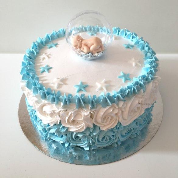 Baby taart jongen