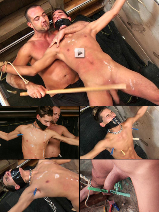 horny twink bound and tortured