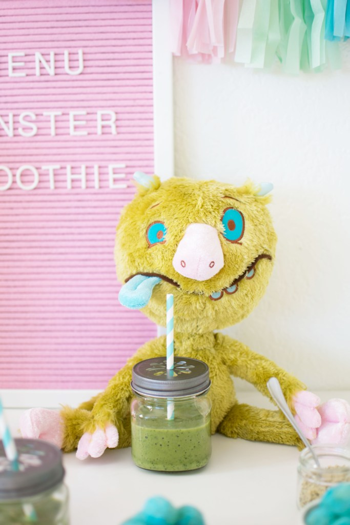 Playdate with Leonardo the Terrible monster. Green Smoothie reci