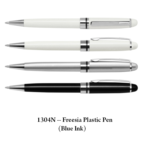 1304N — Freesia Plastic Pen (Blue Ink)