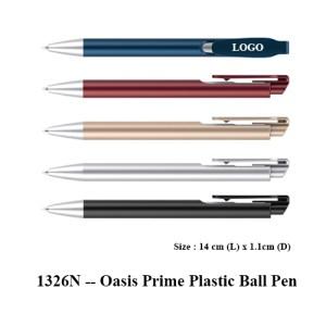 1326N Oasis Prime Plastic Ball Pen 1 - 1326N -- Oasis Prime Plastic Ball Pen
