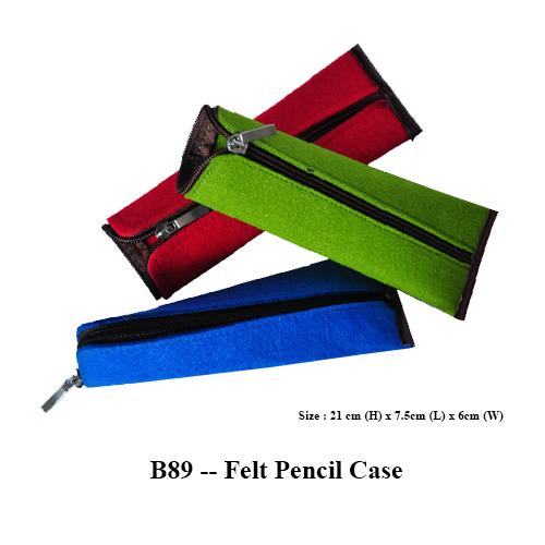 B89 — Felt Pencil Case