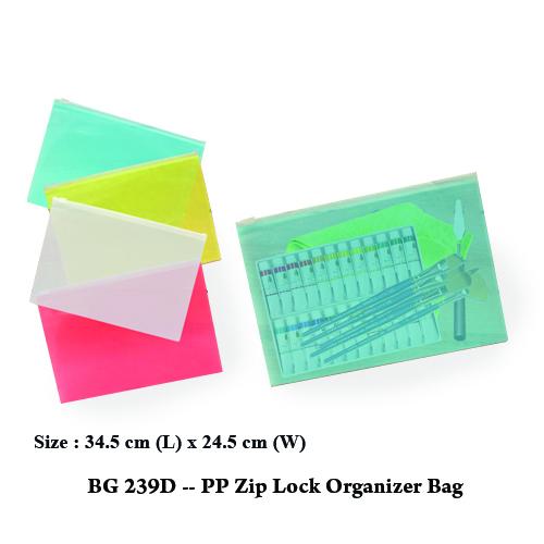 BG 239D — PP Zip Lock Organizer Bag (XL)