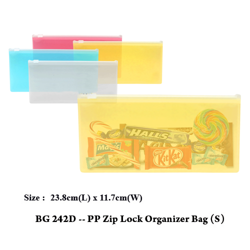 BG 242D — PP Zip Lock Organizer Bag (S)