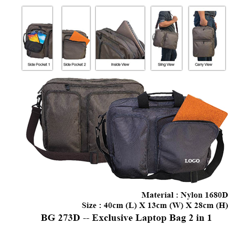 BG 273D — Exclusive Laptop Bag 2 in 1