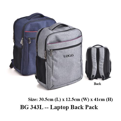 BG 343L — Laptop Back Pack