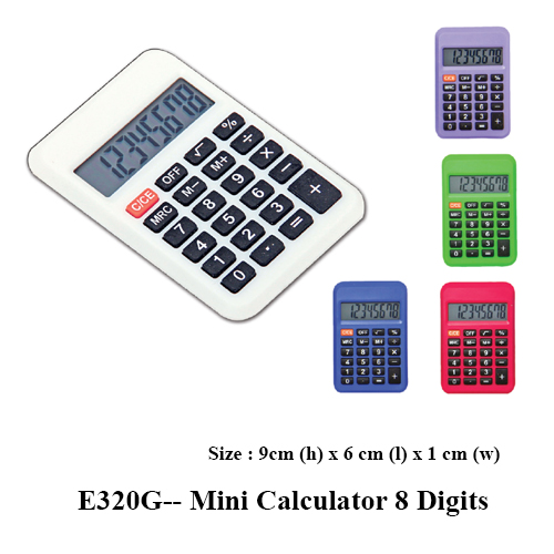 E320G– Mini Calculator 8 Digits