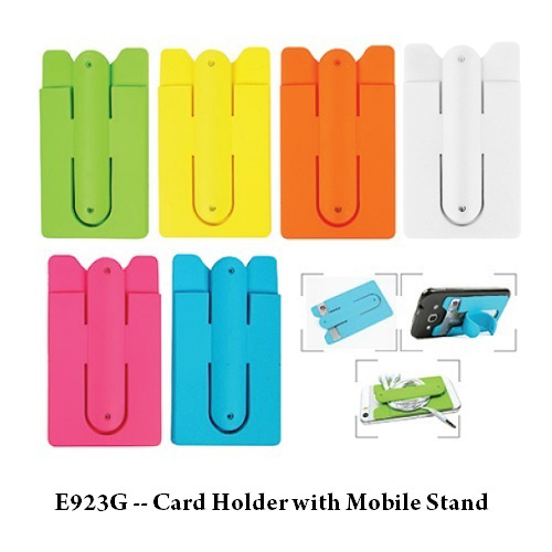 E923G — Card Holder with Mobile Stand