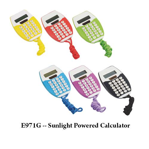 E971G — Sunlight Powered Calculator