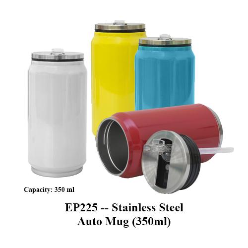 EP225 — Stainless Steel Auto Mug (350ml)