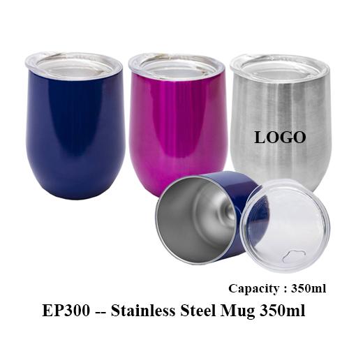 EP300 — Stainless Steel Mug 350ml