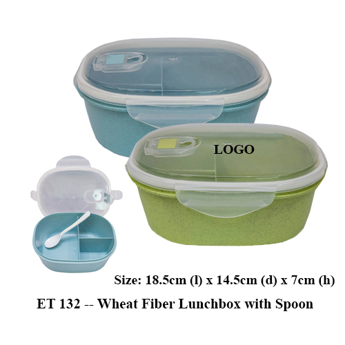 ET 132 — Wheat Fiber Lunchbox with Spoon