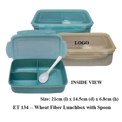ET 134 — Wheat Fiber Lunchbox with Spoon