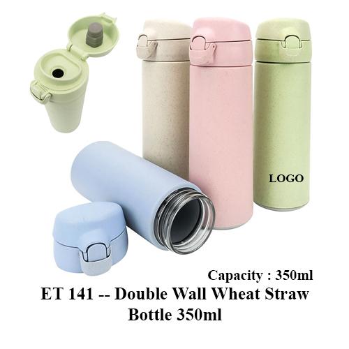 ET 141 — Double Wall Wheat Straw Bottle 350ml