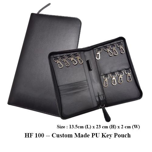 HF 100 — Custom Made PU Key Pouch