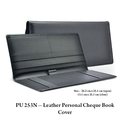 PU 253N — Leather Personal Cheque Book Cover