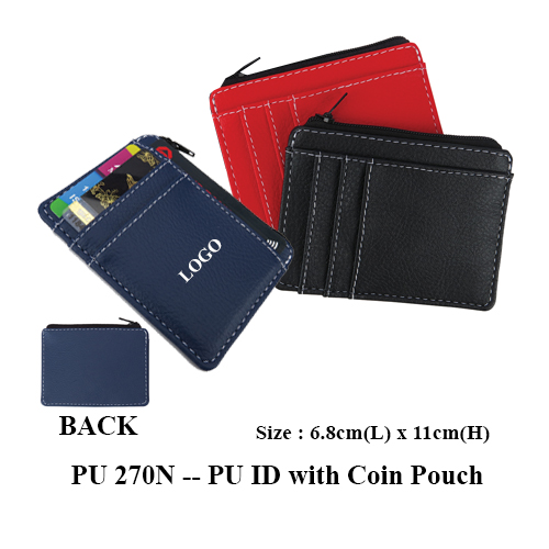 PU 270N — PU ID with Coin Pouch