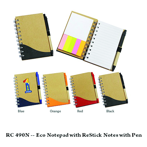 RC 490N — Eco Notepad with Restick Note with Pen
