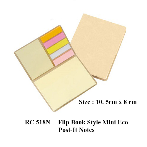 RC 518N — Flip Book Style Mini Eco Post-It Notes