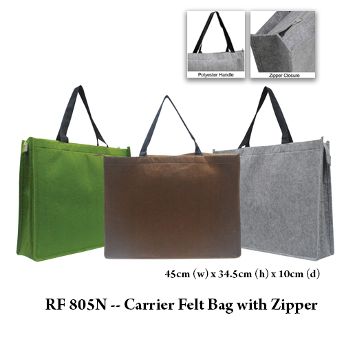 RF 805N — Carrier Felt Bag with Zipper