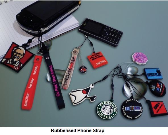 Rubberised Phone Strap