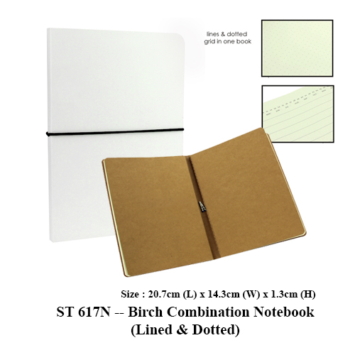 ST 617N — Birch Combination Notebook (Lined & Dotted)