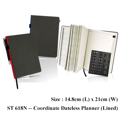 ST 618N — Coordinate Dateless Planner (Lined)