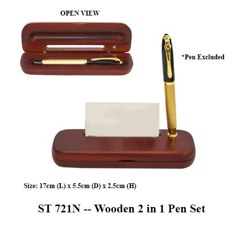 ST 721N — Wooden 2 in 1 Pen Set
