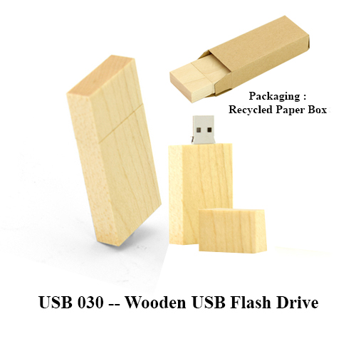 USB 030 — Wooden USB Flash Drive