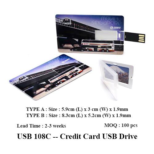 USB 108C — Credit Card USB Drive