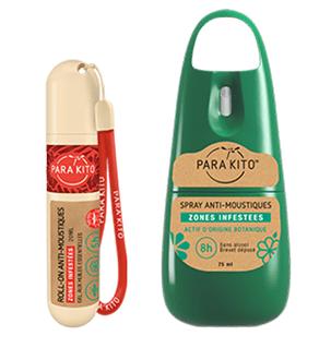 spray anti moustiques roll on parakito