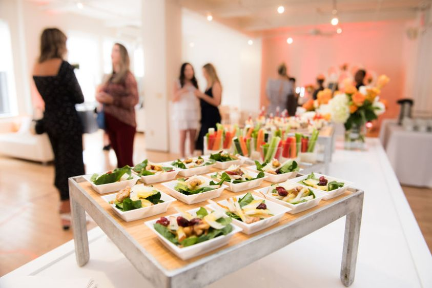 organic catering setup at a wedding event