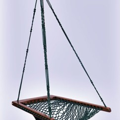 Hanging Chair Rope French Club Green